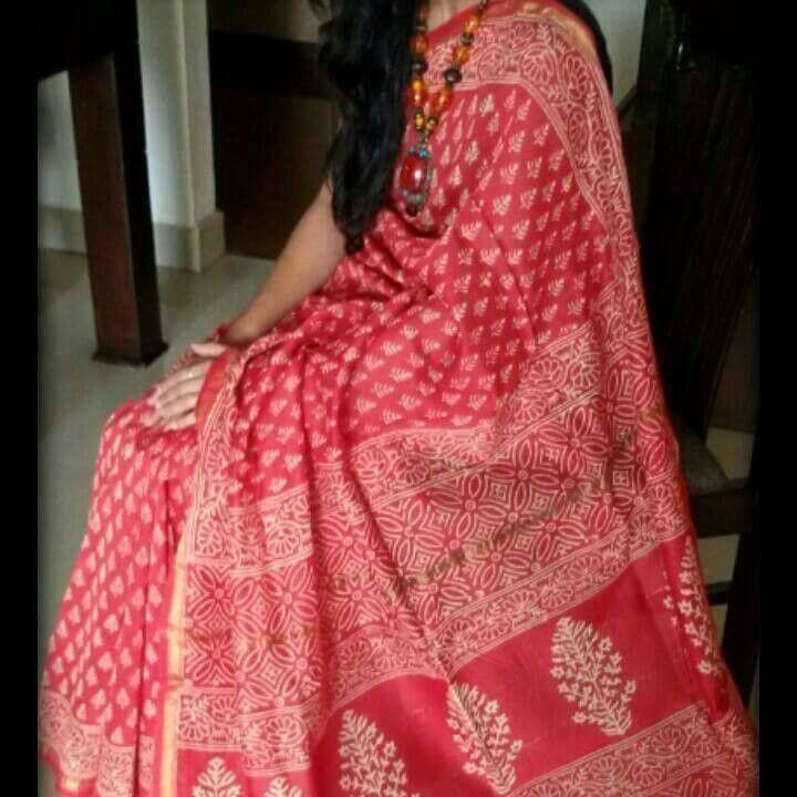 Red+Bangladeshi+Jamdani+Saree