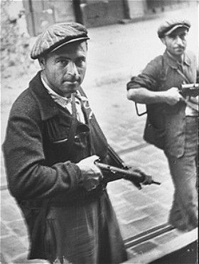 Jewish partisans in action during the August 1944 insurrection in the south of France. —Julia Pirotte/United States Holocaust Memorial Museum
