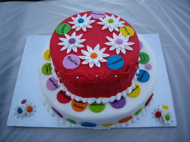 Family Reunion Cake - all our names were written on the circles. It was so yummy!