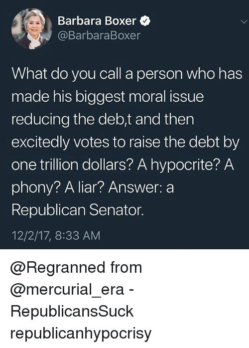 Paul Ryan. Mitch McConnell and the Republican Party.  No longer the party of fiscal conservatives.