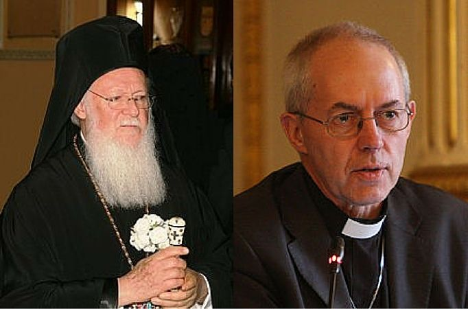 Patriarch Bartholomew meets with Archbishop Welby and endorses UN's climate change agenda