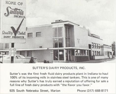 Sutter's Dairy Marion Indiana | Marion Indiana | Nebraska Street Marion Indiana | Grant County Indiana.  Photo/Donald Pitcher, Facebook