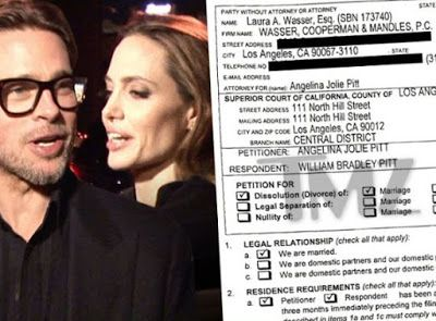 A-Z LIFESTYLETERMINOLOGIES: Here is a copy of Brad and Angelina's divorce…