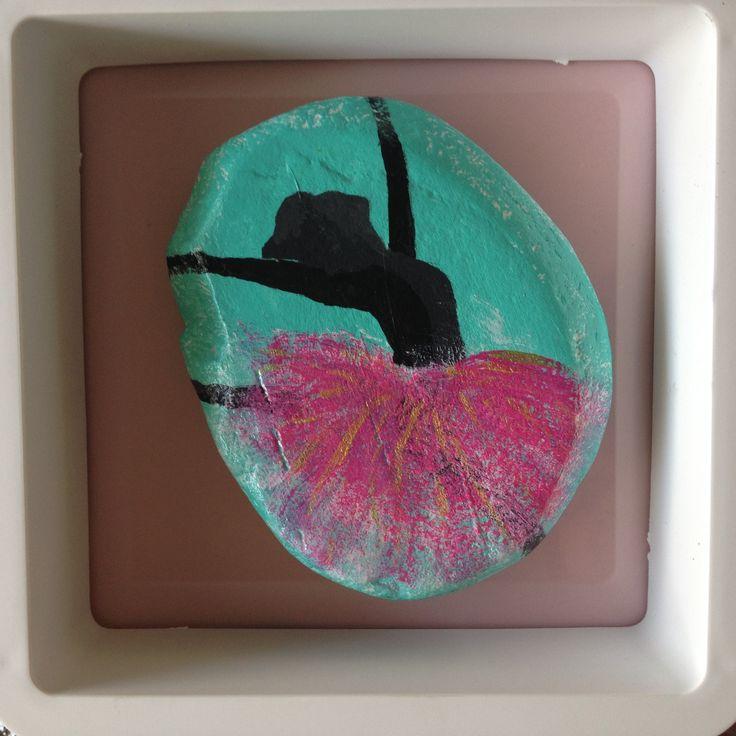 ballerina (painted rock/pebble/stone/art)