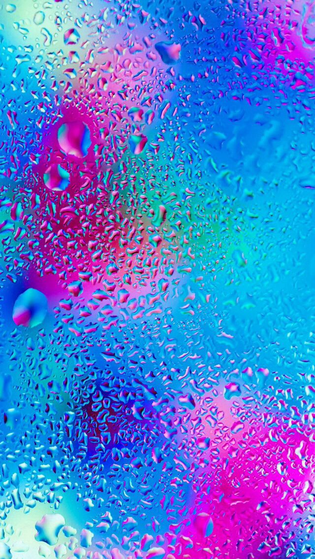 Multicoloured raindrops Wallpapers Pinterest