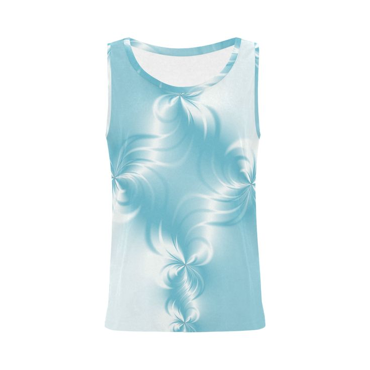 Twisted Blue Pearl All Over Print Tank Top for Women (Model T43)