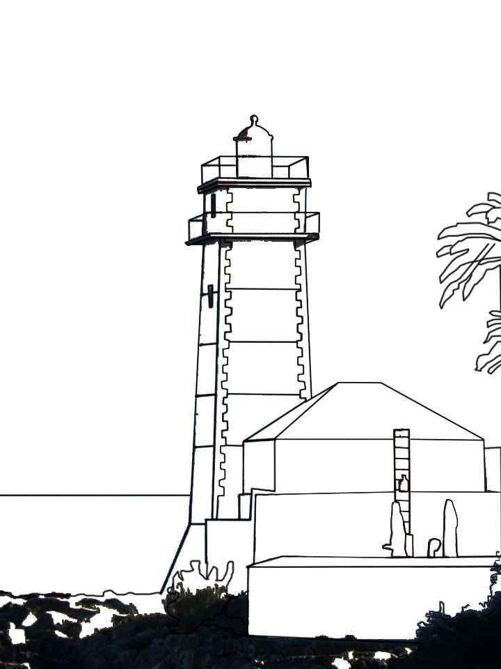 Portugal Lighthouse Digital Drawing