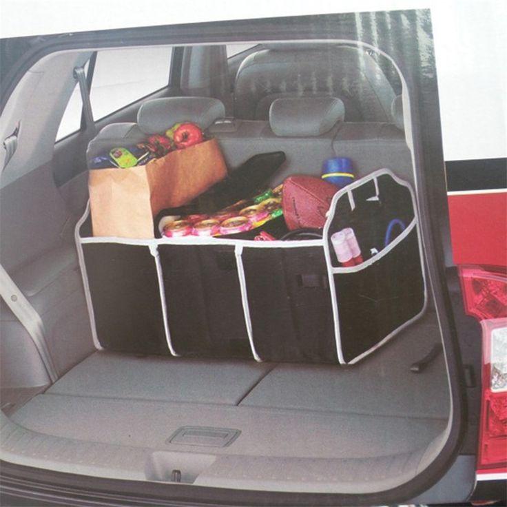 1 шт. полезная автомобиль Организатор загрузки вещи пакеты для хранения продуктов питания багажник автомобиля организатор Закладочных уборки Аксессуары для интерьера складной