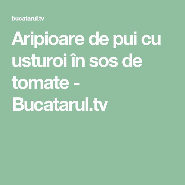 Aripioare de pui cu usturoi în sos de tomate - Bucatarul.tv