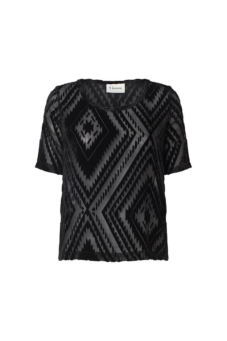 Burnout velvet t-shirt from Ganni Spring / Summer 2015