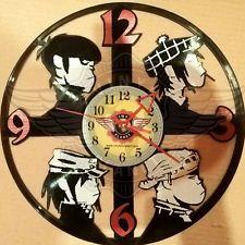 VINYL PLANET Wall Clock GORILLAZ