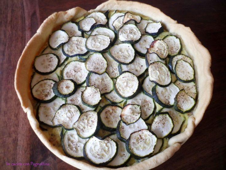 Torta salata #zucchine e #tonno