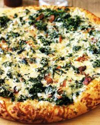 Though not everyone is wild about spinach, just about everybody eats pizza. So here, mixed with peppery cheese and a bit of smoky bacon, is spinach th...