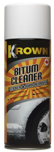 KROWN- #Solvent- #cleaner-road-tar- #sticker-and- #gum- #remover  Effective biological product removes stains of asphalt, tar, rubber, grease, stickers, glue residue and sticky stains (like chewing gum) from painted, lacquered, textile surfaces and carpet.  Directions for use: Spray on dirty surfaces, allow 2 minutes contact time, wipe with cloth. Repeat if needed.