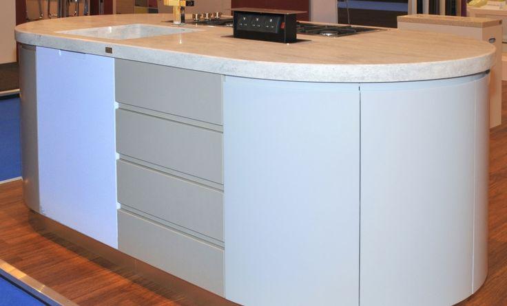 Corian® Island Unit and Different Door Styles now in PWS Showroom http://www.cdukltd.co.uk/