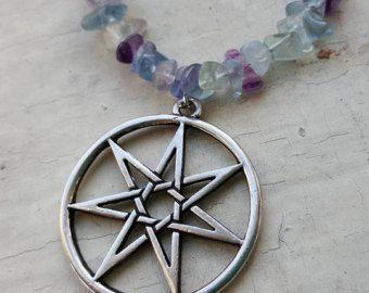 septagram necklace – Etsy