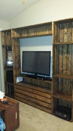 Crate Entertainment Center Wood Projects Pallet