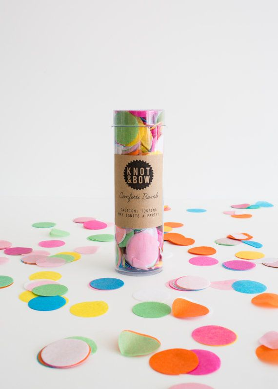NEW Party Confetti Bombs // colorful party mix www.knotandbow.com