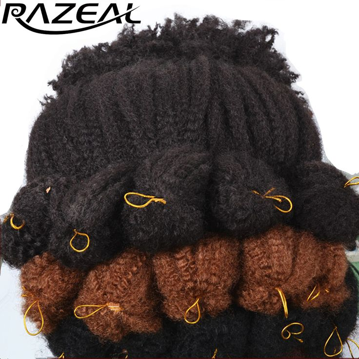 Razeal 18Inch Crochet Braids Synthetic Braiding Hair Extension Afro Kinky Marley Braid Hair High Temperature Fiber