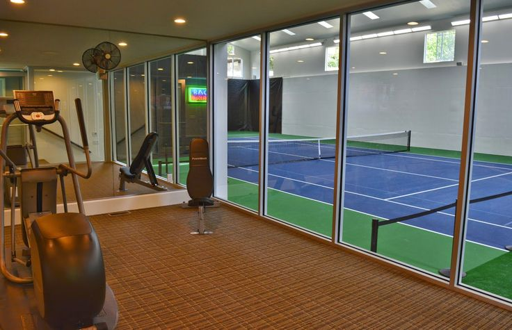 Utah house that has an indoor tennis court interior