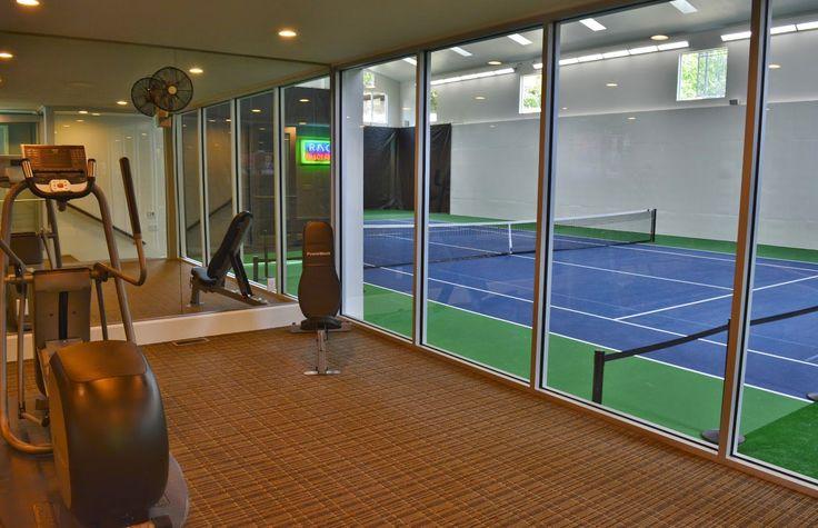 utah house that has an indoor tennis court