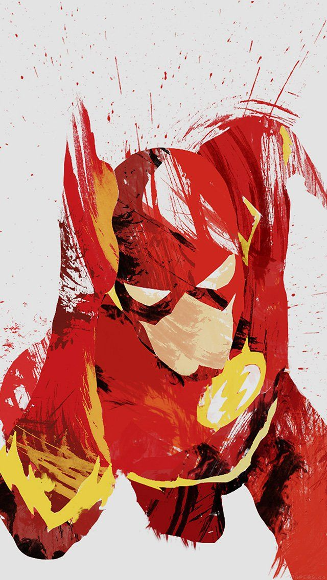 freeios8.com-iphone-4-5-6-plus-ipad-ios8-ah41-flash-speed-hero-illust-minimal-art
