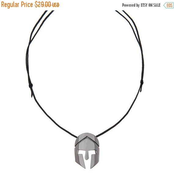 This cool Sterling Silver Spartan Helmet is a great item for you or a gift for that Spartan lover. This necklace is done and ready to ship. The Helmet is 2 in size and is made of Sterling Silver 925. It includes an adjustable slip knot 2.5 mm black leather strand, that is longer to fit a big man or woman's neck as well.  You can chooce from 3 different finishes:Silver/white,Yellow or Black platinum.  Prepared and Shipped time for the most orders is 1-9 working days .   >Please read the shop…