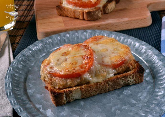 Deliciosa receta de Sándwich de atún, tomate y queso del blog Disfrutando de la Cocina