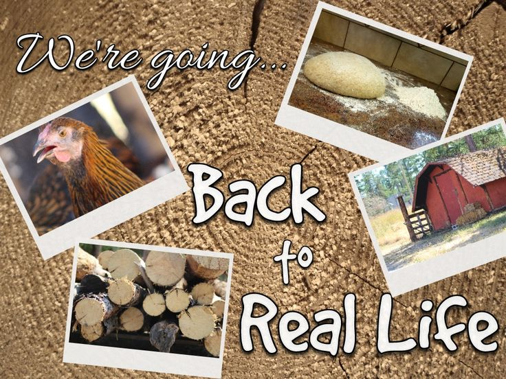 Back to natural, self sustained, meaningful living. Come with us!