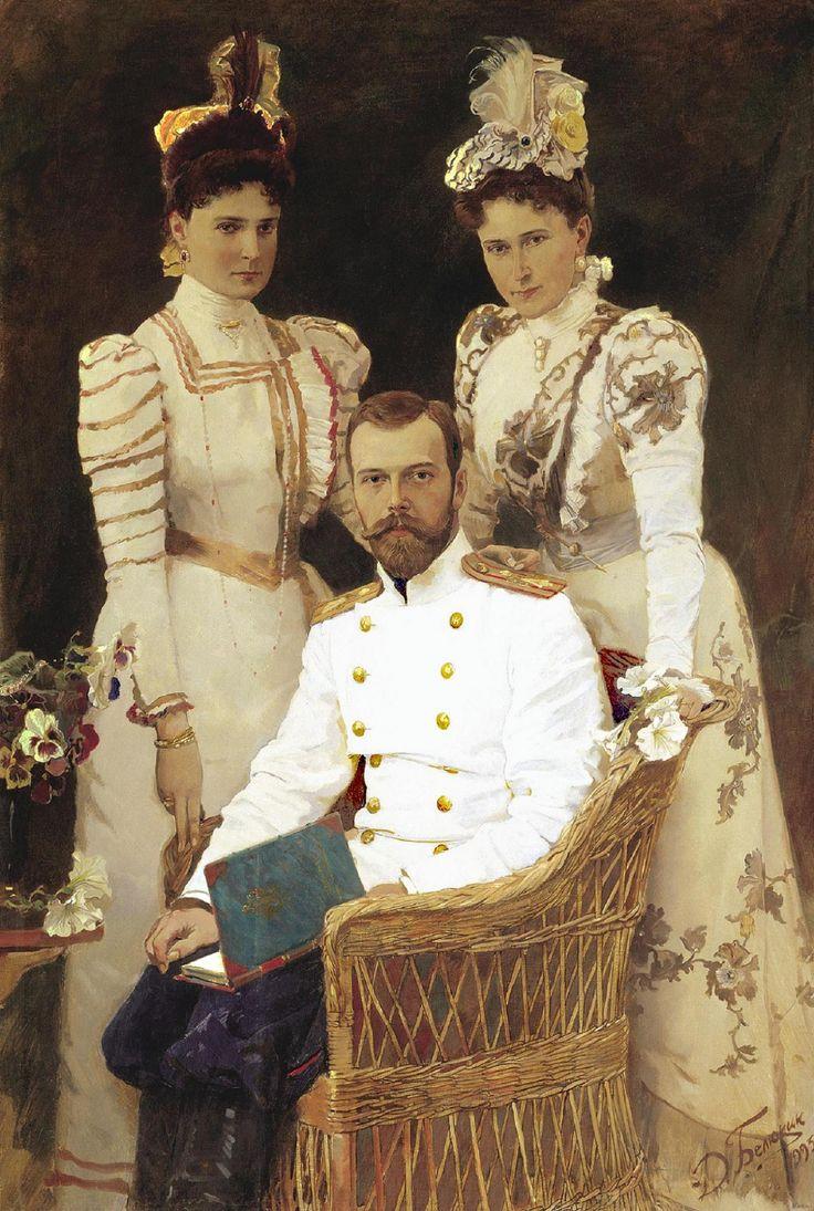 Tsar Nicholas Ii, Tsarina Alexandra Feodorovna And Grand Duchess Elizabeth  Feodorovna €� By Dmitri Belyukin