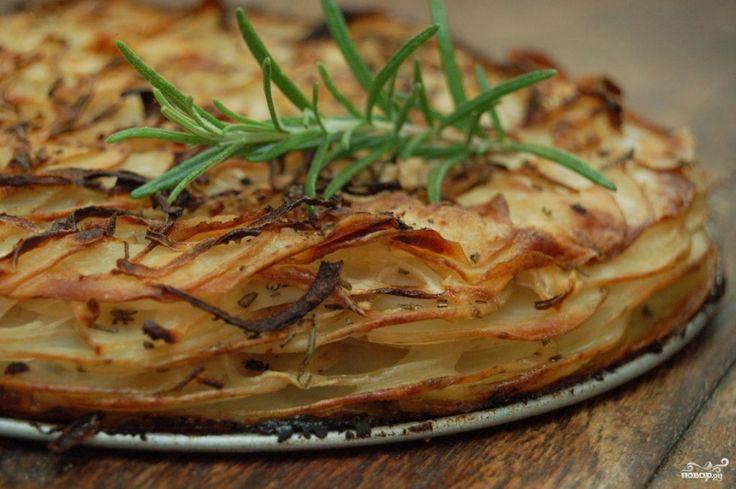 Слоеный пирог с картошкой
