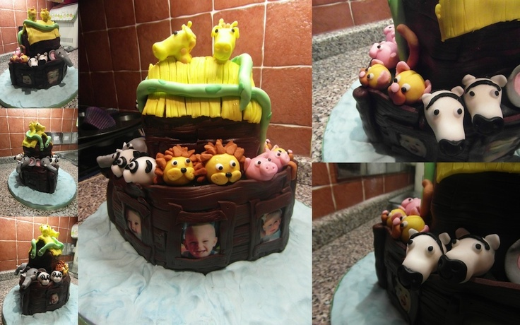 Gallery - Fondant Fantastic: Noahs Ark cake for a joint 1st birthday party