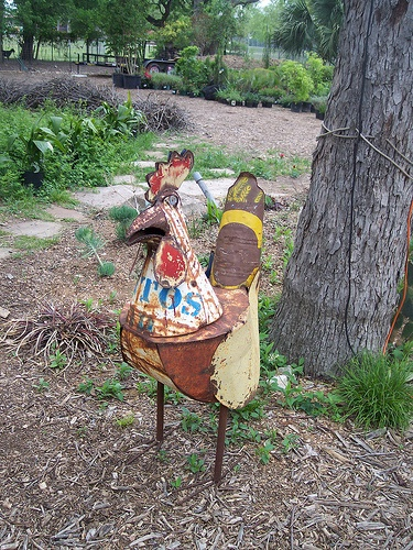 chicken yard art - funky chicken coup tour 4-11-09 by spasmo84, via Flickr
