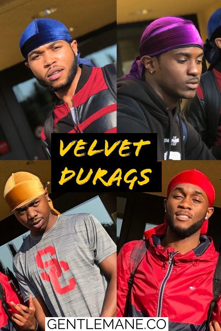Velvet Durags in vibrant colors Gentlemane locate in