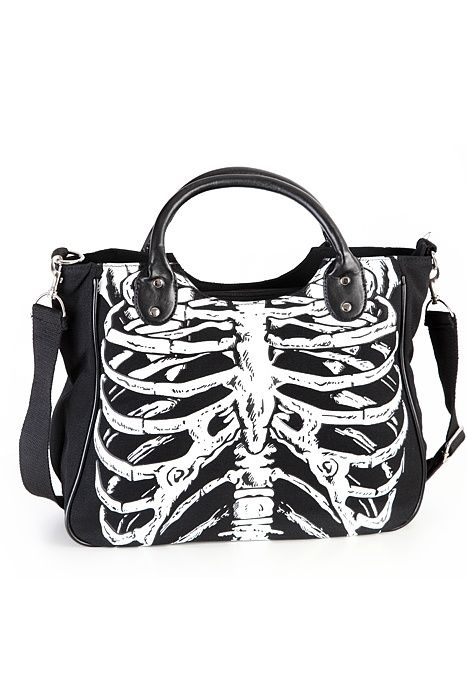 banned apparel purse | Banned Clothing Hand Bag Skeleton Glow | Bags ... | Bags, Purses, W...