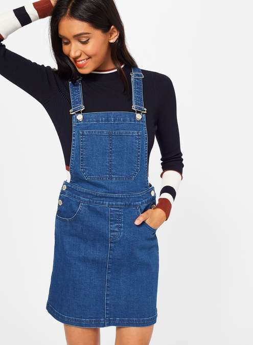 Denim pinafore dress by Miss Selfridge