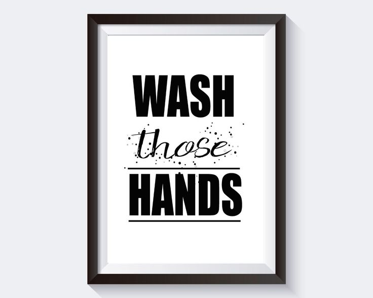 Great Wall Art Wash Hands Digital Print Wash Hands Poster Art Wash Hands Wall Art Print Wash
