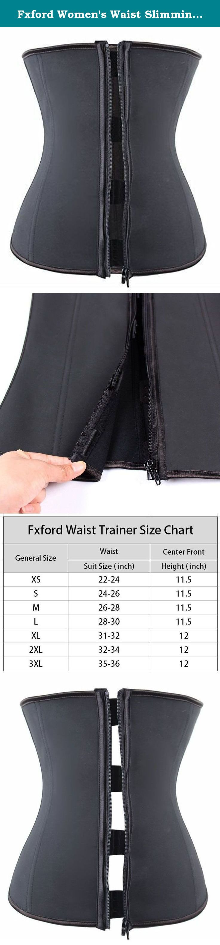 Fxford Women's Waist Slimming Latex Waist Trainer Corset Body Shapewear, FX2219 (Black, M). he Fxfort Corsets Women's Waist Cincher provides 360 degrees of shaping thoughout the mid section and back and it enhances your figure while helping your posture and giving you a beautiful silhouette.It works great with wedding gowns, dresses or casual outfits. Have the perfect outfit to wear but you need to smooth out your tummy? No worries. Just put on our waist cincher for a smoother, sleeker…