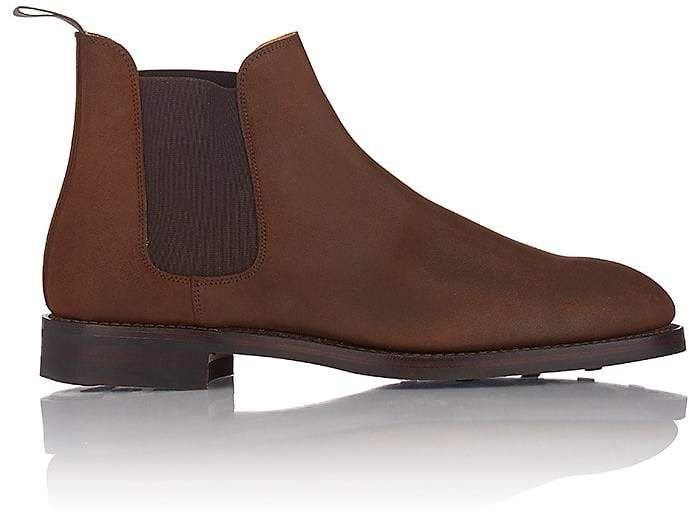 Crockett & Jones Men's Chelsea 5 Boots  $600 AT BARNEYS NEW YORK   Get the best Chelsea boots for your wardrobe  #menfashion #menoutfits #fashion #chelseas #menjeans #menshoes