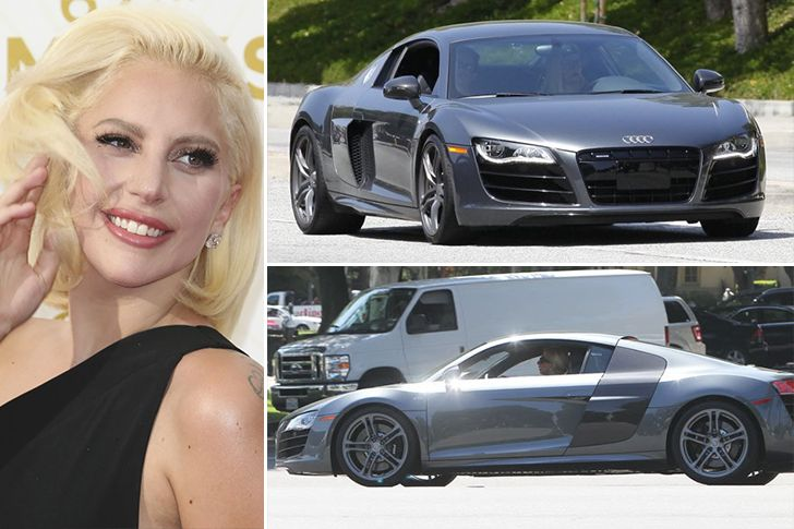 Lady Gaga –Audi R8, Estimated $165K You would expect Lady Gaga to go crazy with some over the top expensive car in a neon color but Gaga chose a sensible yet elegant luxury Audi R8 in silver and been seen driving around L.A. with her friends. It seems that when it comes to her moneyRead More