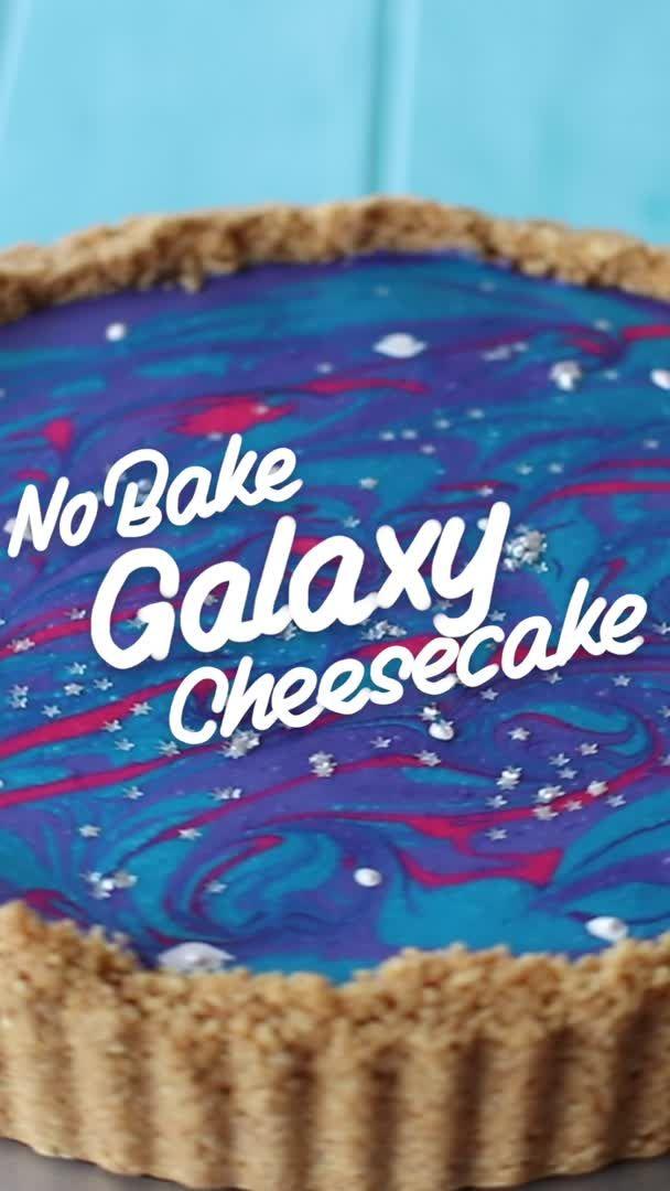 No Bake Galaxy Marshmallow Cheesecake