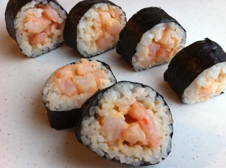 spicy shrimp sushi rolls nicoleus favorite recipes