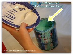 How To Make Chalk Paint. A simple and easy recipe.                                                                                                                                                                                 More