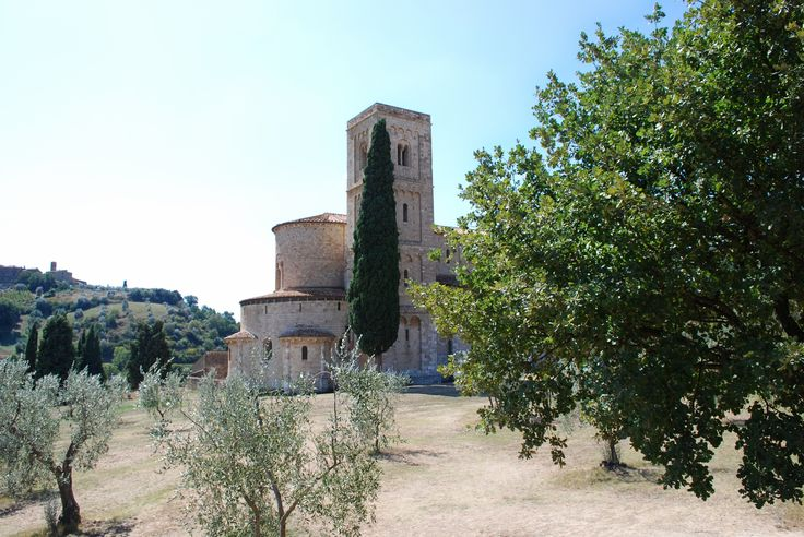 Sant'Antimo - Sant'Antimo abbey - Montalcino, Siena, Italy.