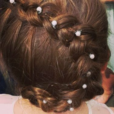 Ruby's first holy communion hairstyle
