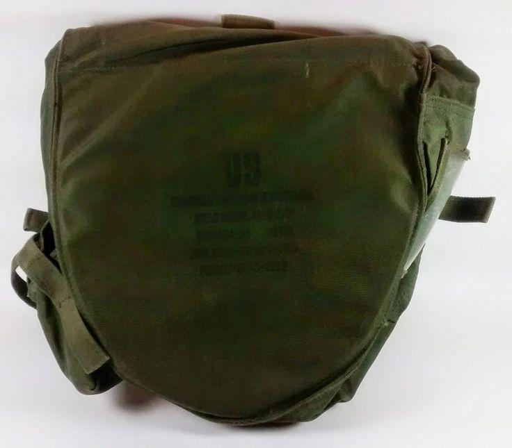 Gas Mask Bag Carrier M40 M42 Satchel Versitile Pouch Model MCU-2/P USAF Military