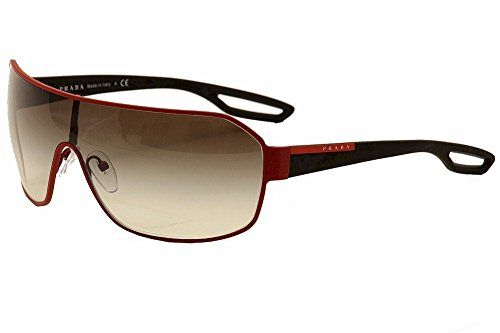 Prada Linea Rossa Men's 52q Red Rubber Frame/Grey Gradien…