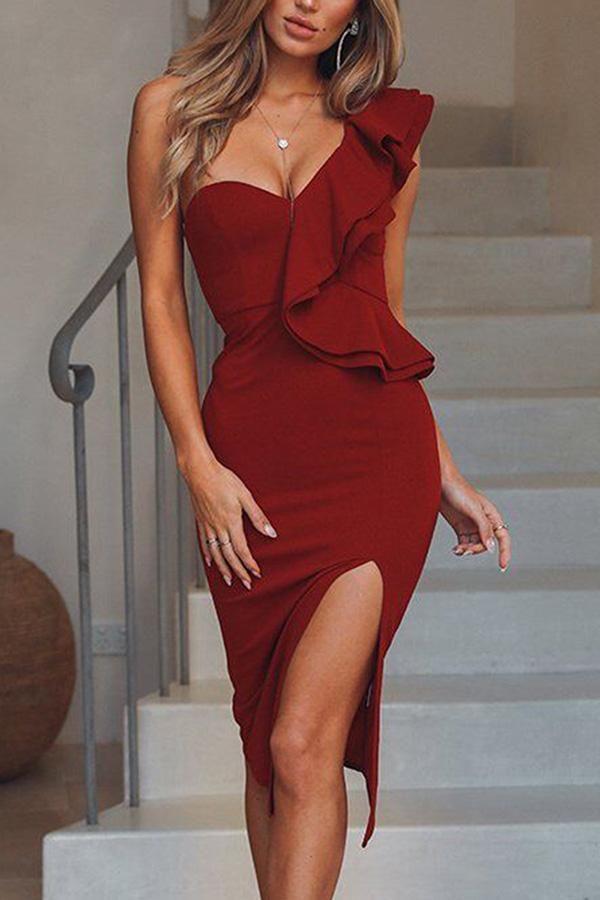 Fashion Plain Sleeveless Bodycon Dress
