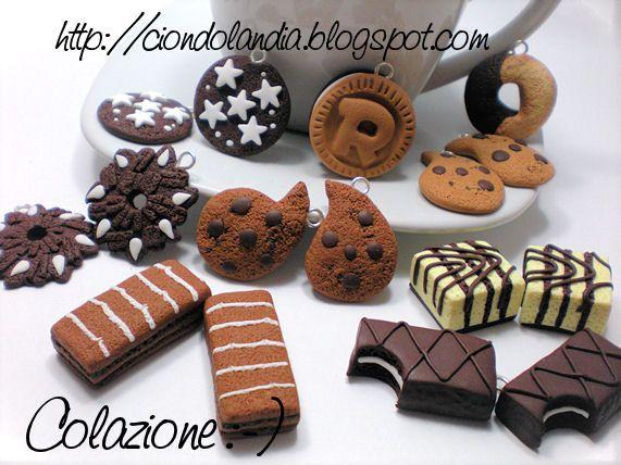 Charms Ciondoli_ Merendine/Biscotti_ Fimo_Hand Made_ Dolcetti