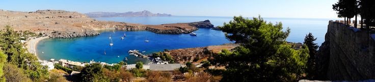 Rodos Rhodes - Lindos Bay & Cleobulus Grave - a view from the Acropolis